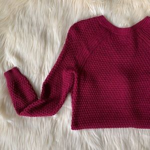 Sonoma Open Weave Sweater, Burgundy, Size M